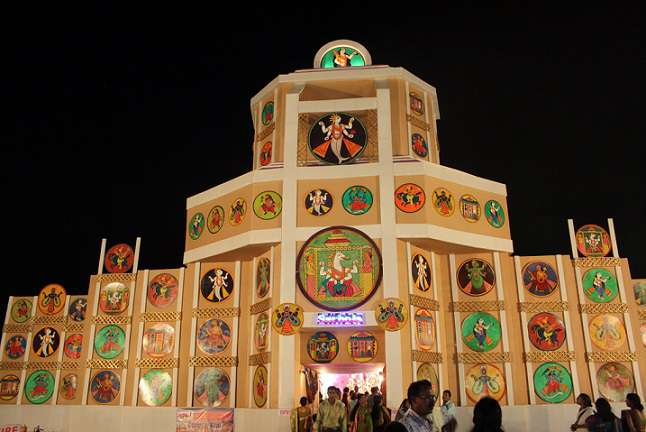 Durga puja pandal decoration ideas best decoration ideas 2018 october 2016 niveditas thecheapjerseys Image collections