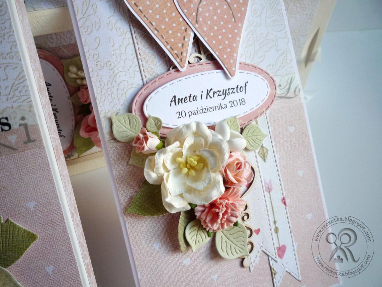 Ręcznie robiona kartka na ślub