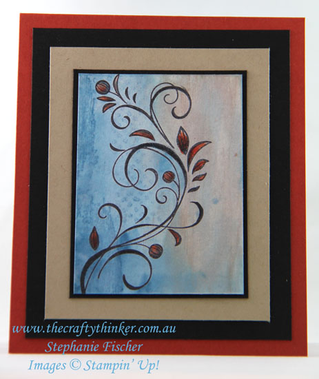#cardmaking, #stampinup, #watercolourbackgrounds, Falling Flowers, Watercolour background, #thecraftythinker, Stampin' Up Australia Demonstrator, Stephanie Fischer, Sydney NSW