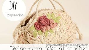Bolso para tejer al crochet con una carpeta circular / DIY