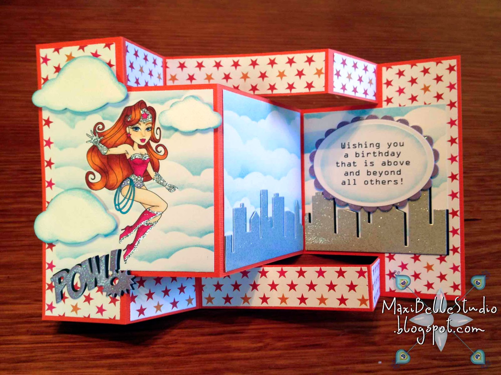 Sassy Studio Wonder Regan tri-fold shutter masked cloud backgound tutorial