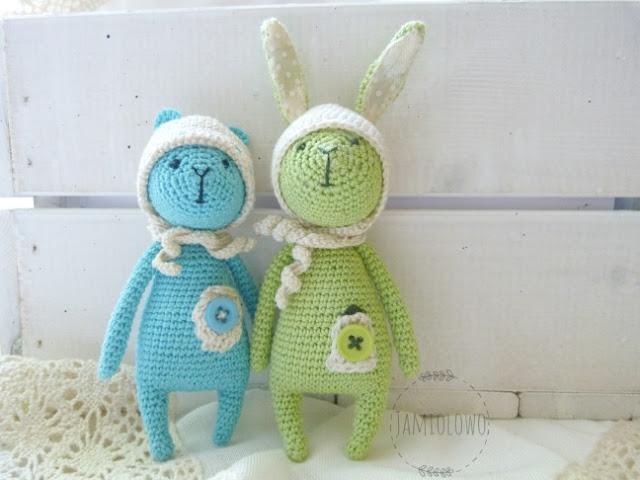 amigurumi -miś i królik