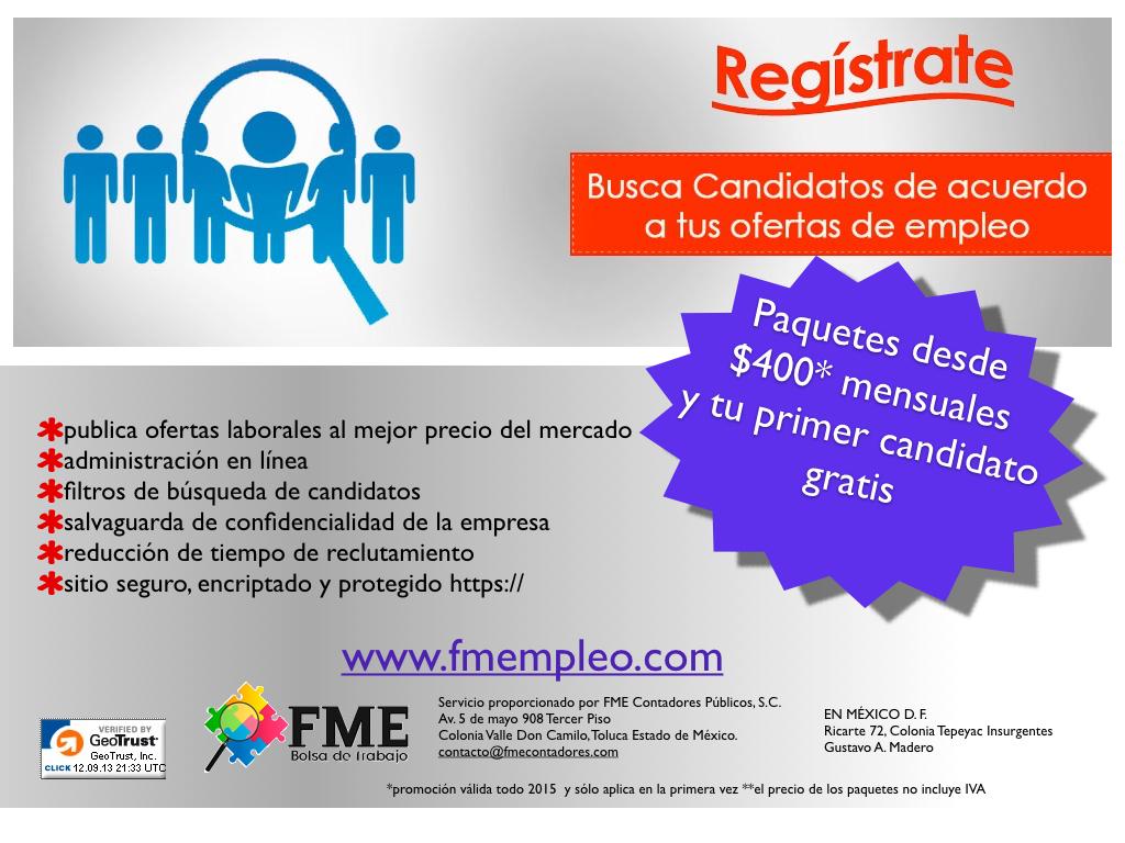En la categoría ofertas de trabajo Toluca encontrarás más de 7, empleo, por ejemplo: Administrativo, Arte o Atención al cliente.