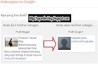 Cara Menghubungkan Profil Blogger dengan Profil Google Plus