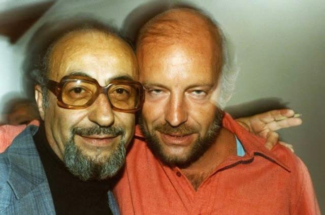 Foto de Eduardo Galeano y Jorge Enrique Adoum