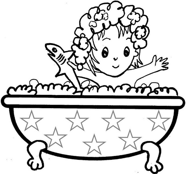 l bath time coloring pages - photo #7