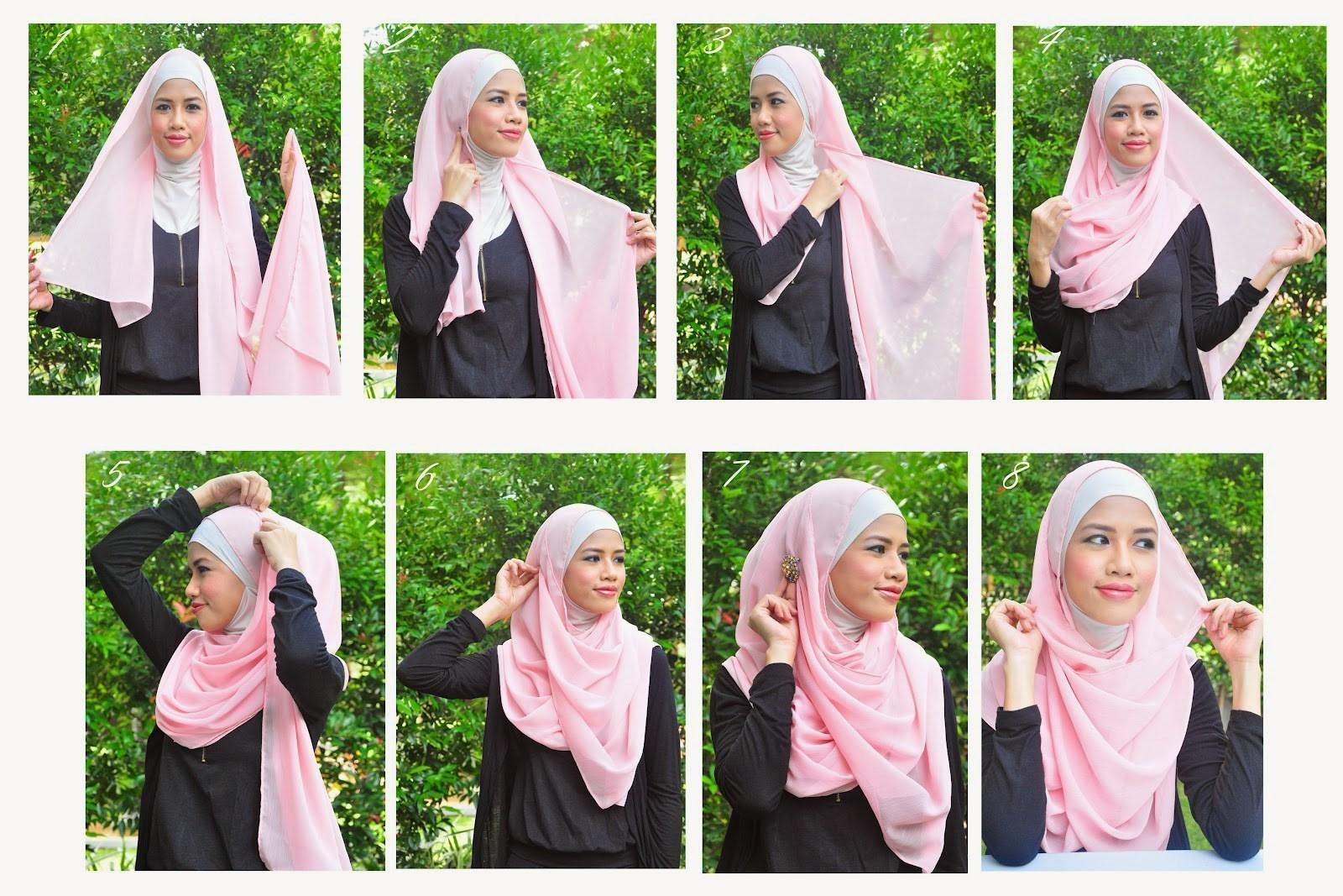 Tutorial Hijab Pesta Muslimah