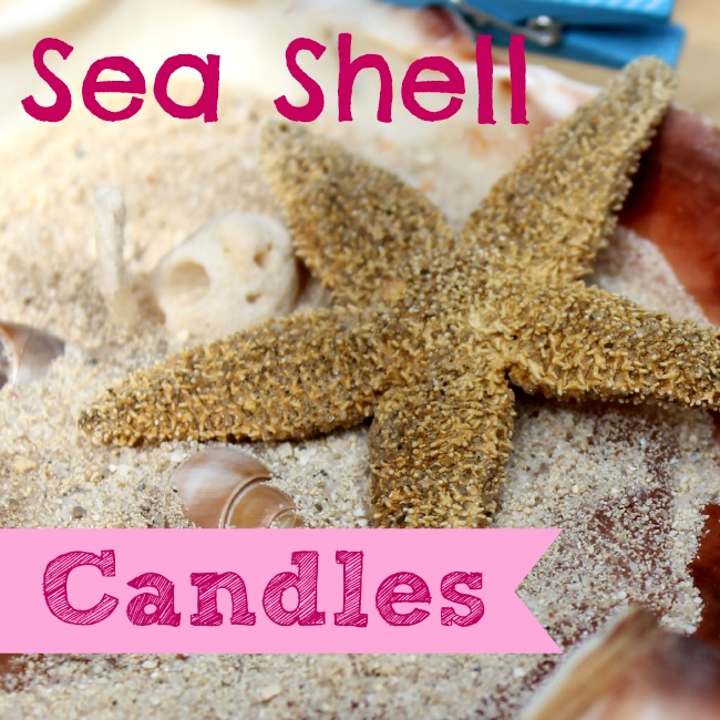 Make a candle in a seashell