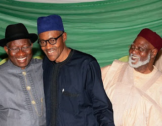 BREAKING: Jonathan Currently At Ongoing Council of States Meeting With Buhari In Aso Rock, Abdulsalami, Shonekan Too