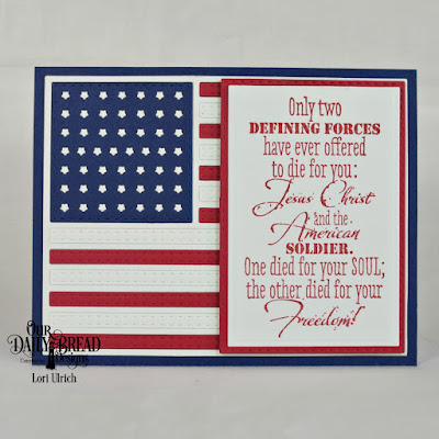Our Daily Bread Designs Stamp Set: Defining Forces, Custom Dies: USA Flag, Rectangles, Double Stitched Rectangles