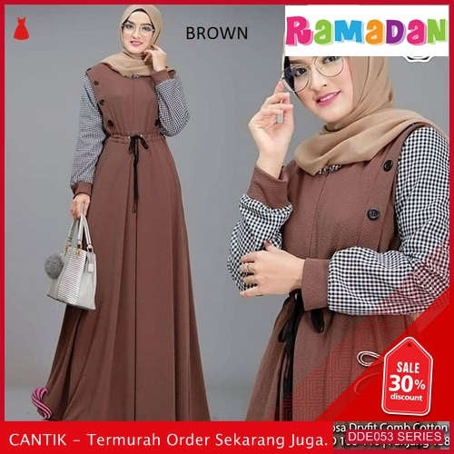 DDE053H93 Hot Produk Dress Disy Lebaran Black 2019 Ro BMGShop