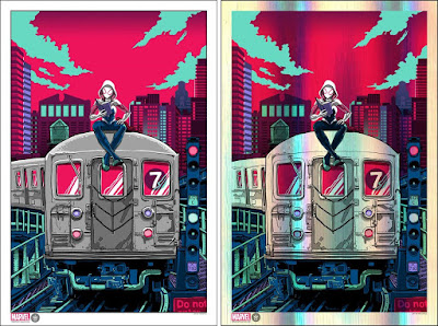 New York Comic Con 2017 Exclusive Spider-Gwen Marvel Screen Print by Tim Doyle x Grey Matter Art