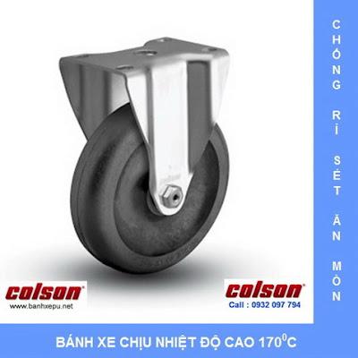 Bánh xe đẩy hàng chịu nhiệt thermo càng inox 304 Colson | 2-4408-53HT www.banhxedayhang.net