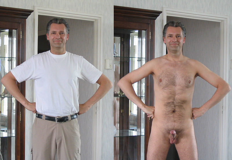 Dressed and undressed men