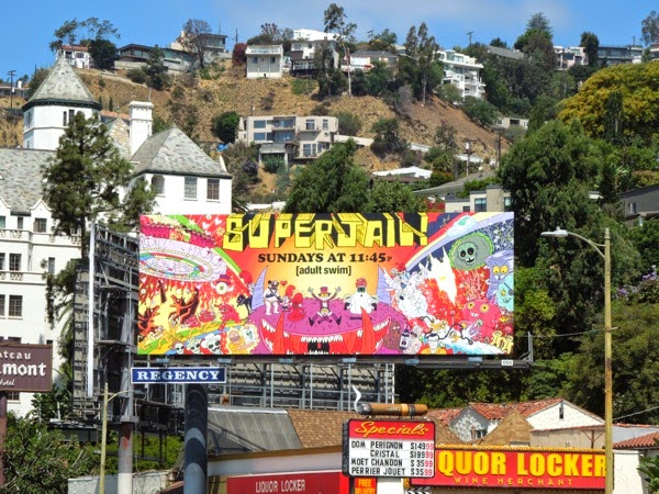 Superjail season 4 billboard Sunset Strip