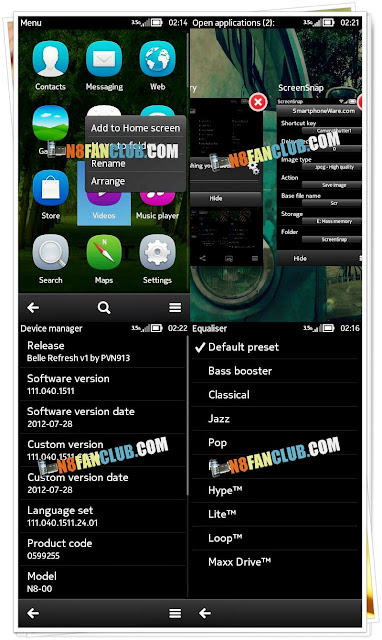 PVN v1 Nokia Belle Refresh Custom Firmware for Nokia N8 - Download and Flashing Tutorial Guide