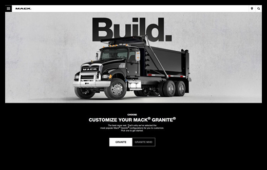 Mack Trucks Granite Online Configurator