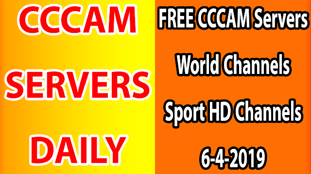 FREE CCCAM Servers World Channels +Sport HD Channels 6-4-2019