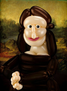 Funny Mona Lisa Paintings Balloon