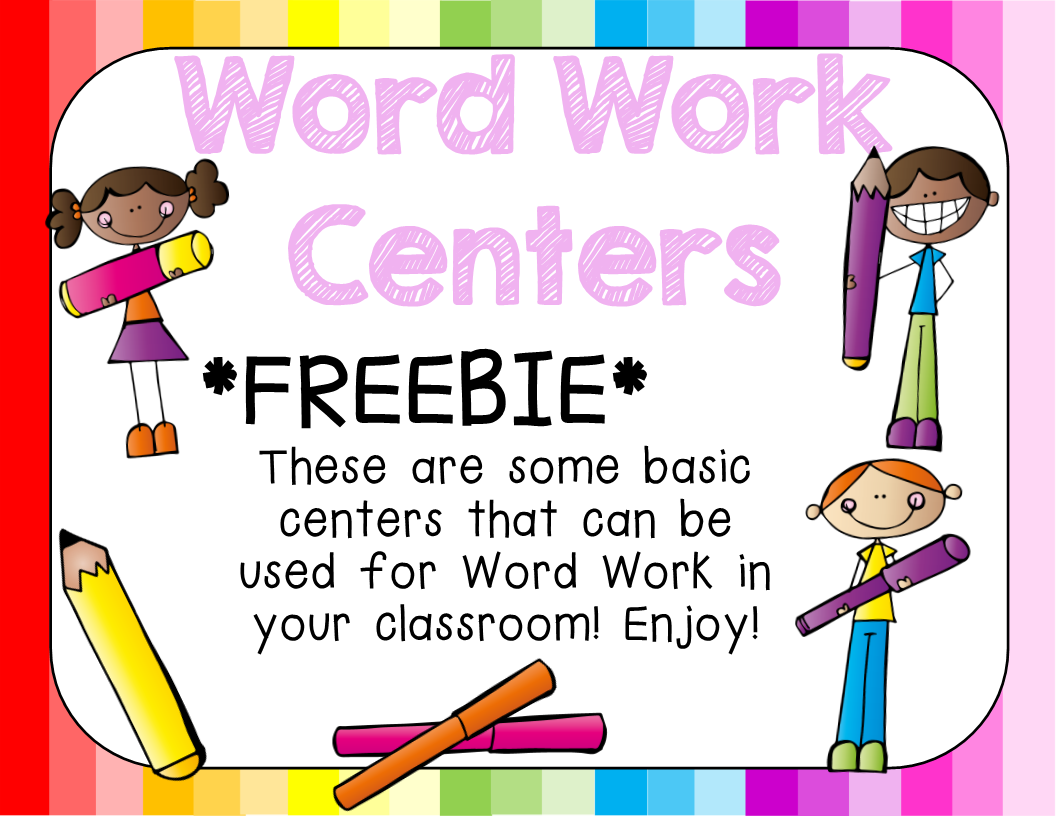 Word Work Centers Freebie