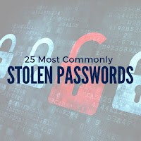 25 Most Commonly Stolen Passwords