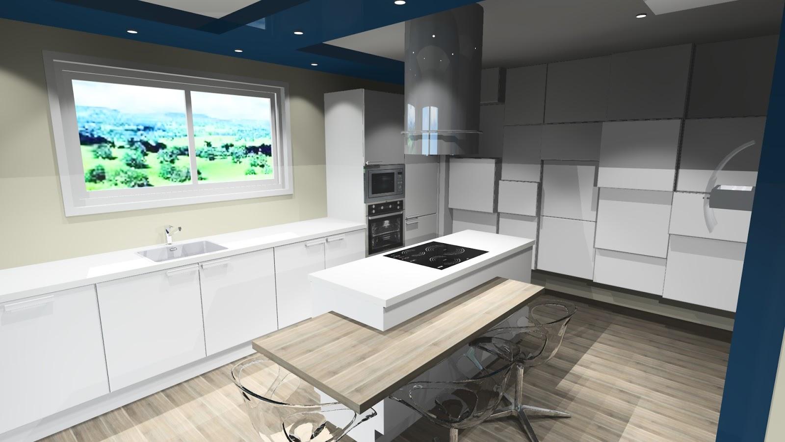 Cuisine Moderne Design Avec Ilot | Cuisine Avec Ilot Central Arrondi ...
