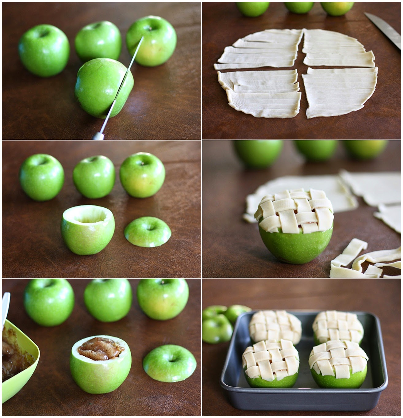 DIY Apple Pie Baked In An Apple