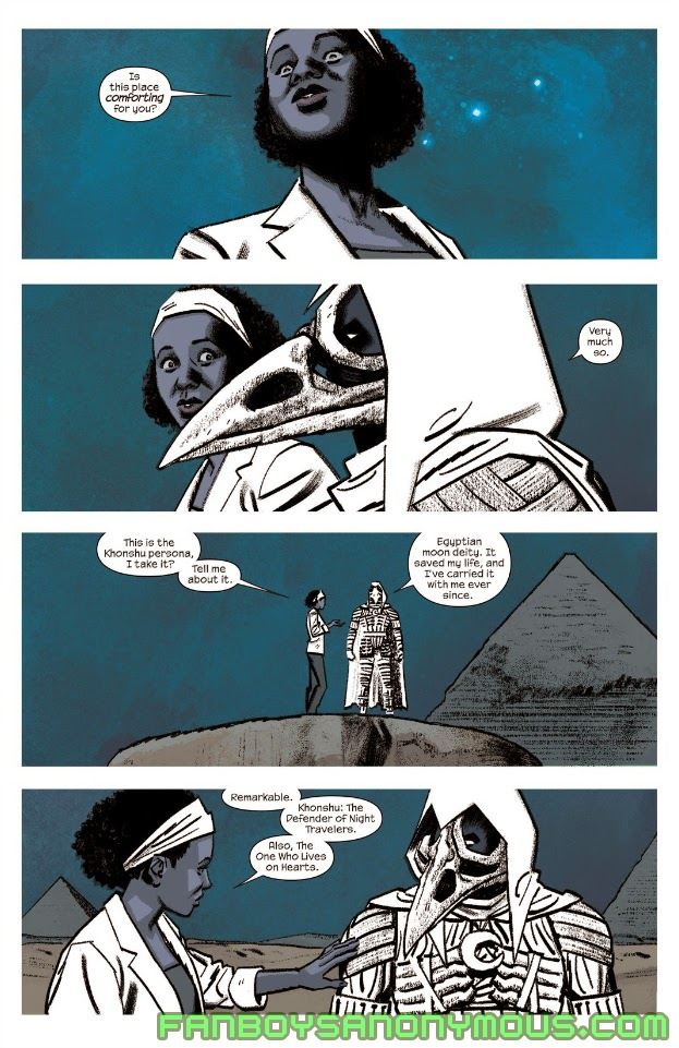 Learn about Moon Knight's history with Khonshu in Moon Knight: Fist of Khonshu and West Coast Avengers Omnibus Volume 2
