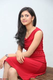 Mounika Telugu Actress in Red Sleeveless Dress Black Boots Spicy Pics 019.JPG
