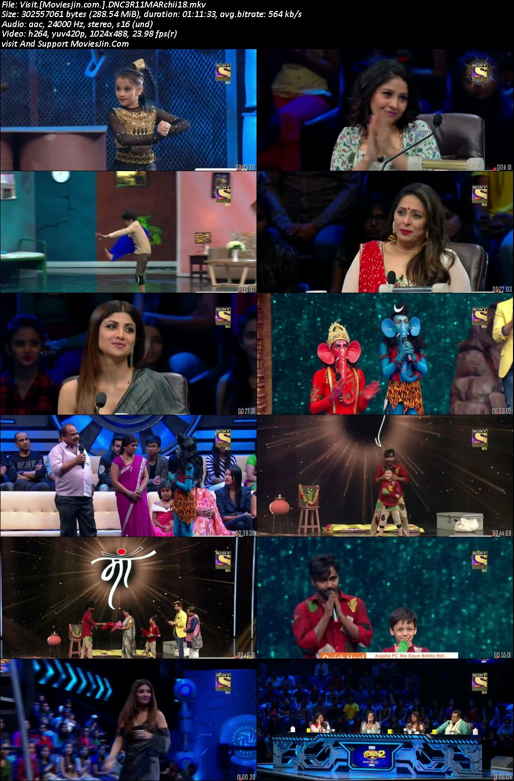 Super Dancer Chapter 02 11 March 2018 HD 280MB 480p TVRip