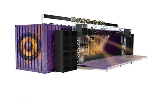 desain panggung portable dari kontainer bekas