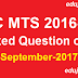 SSC MTS Question Asked on 18 September 2017