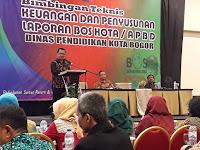 Disdik Kota Bogor Gelar Bimtek Keuangan dan Penyusunan Laporan BOS