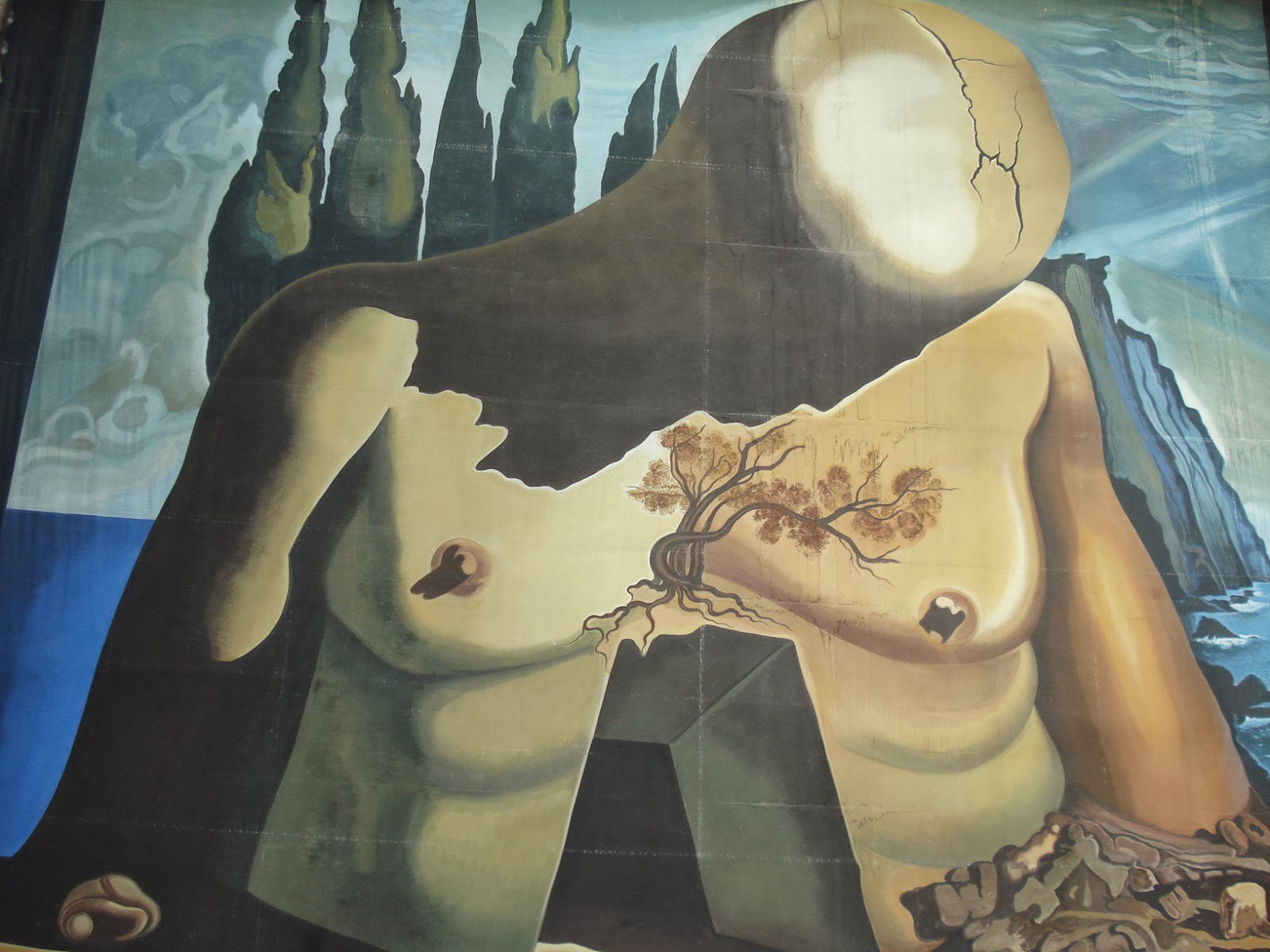 Dalí (mural en Casa Museo de Figueras)