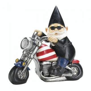 Biker Gnome Solar Statue - Giftspiration