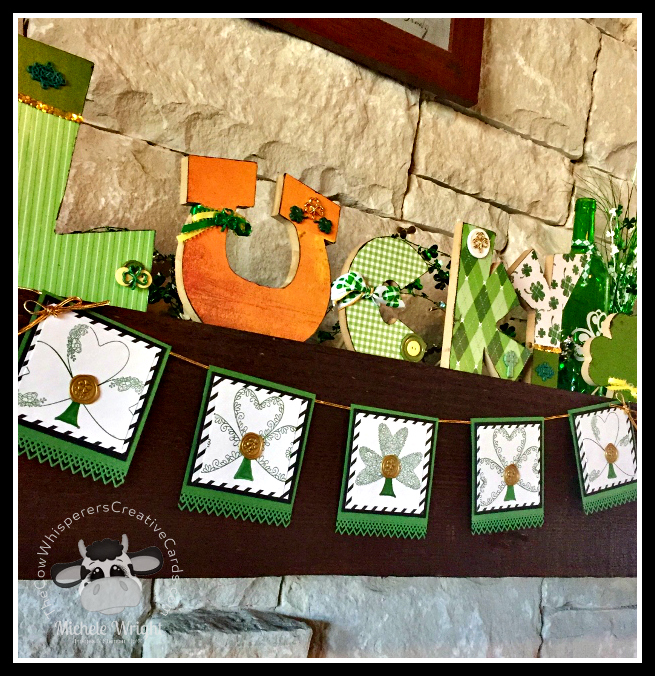Decor, Farmhouse, St Patricks Day, Shamrock, Banner