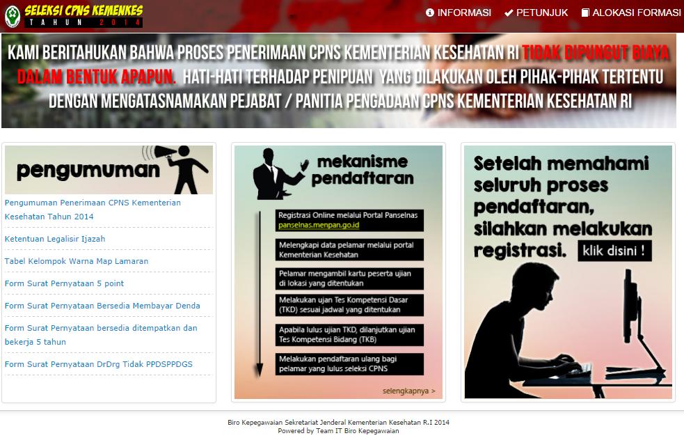 Cpns 2013 Lulusan Sma Pusat Pengumuman Cpns Indonesia Ppci Penerimaan Casn Top 5 Of Penerimaan Cpns Kemenkes 2014 Apr 2016 Watch Movies Online