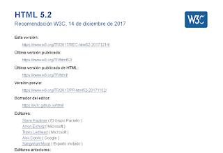 Recomendación de html 5.2