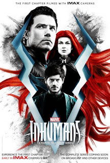 imax poster for marvel's inhumans