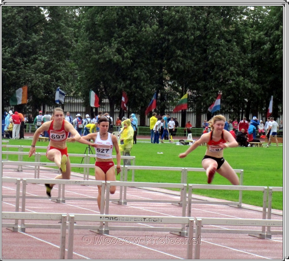 Hurdling at European Youth Olympic Trials 2010