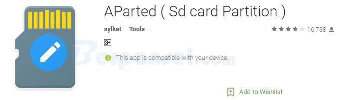 Cara Partisi SD Card tanpa PC dengan aparted