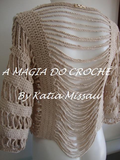 A MAGIA DO CROCHÊ - Katia Missau: Bolero Angélica