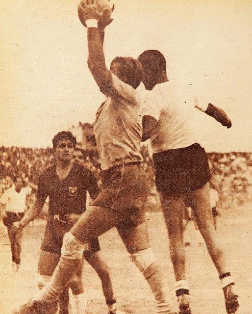 Bolivia y Chile en partido amistoso, 26 de febrero de 1950