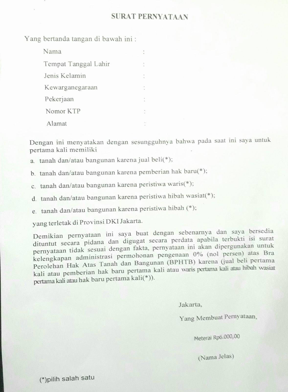 Contoh Surat Kuasa Ajb Detil Gambar Online