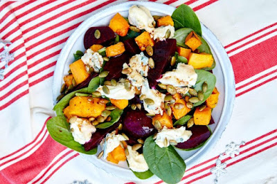 Pumpkin and beetroot salad desserts recipes