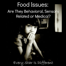 Food issues:  Are they behavioral, sensory related or medical?