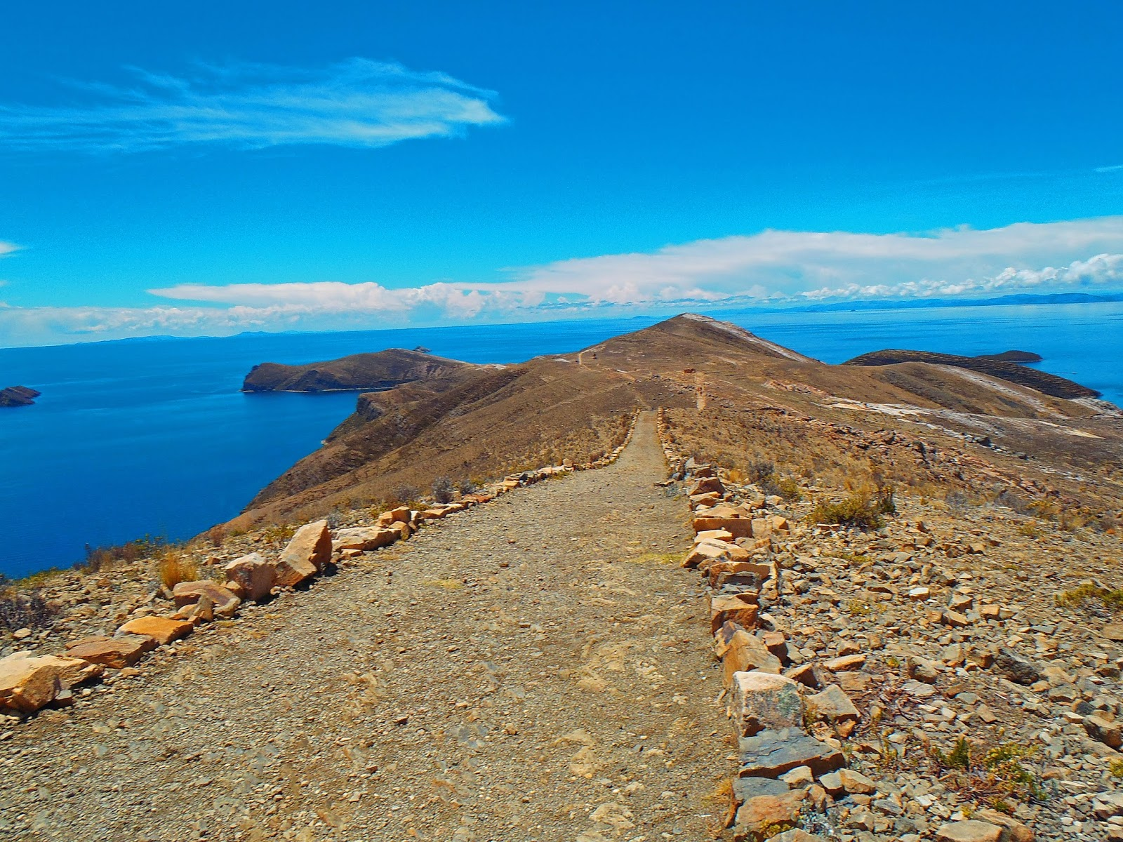 Path on Isla Del Sol Lake Titicaca