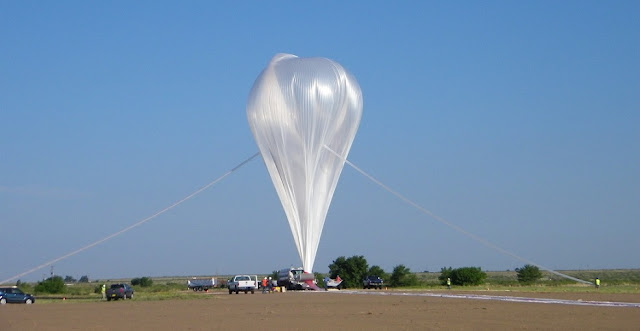 "The ""Big 60,"" NASA's largest scientific balloon was launched from Fort Sumner, New Mexico, on Aug. 17, 2018. Credits: NASA"