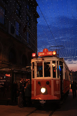 Tram of Istiklal Caddesi in Istanbul