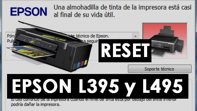 reset impresora EPSON L395 y L495